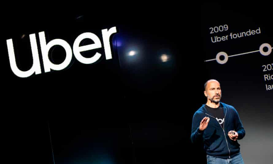 Uber's CEO, Dara Khosrowshahi, addresses the audience during a project launch in September.