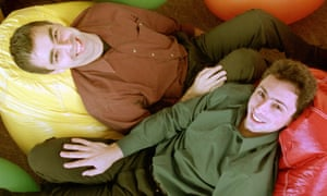 Google's co-founders, Larry Page, left, and Sergey Brin in 2000.