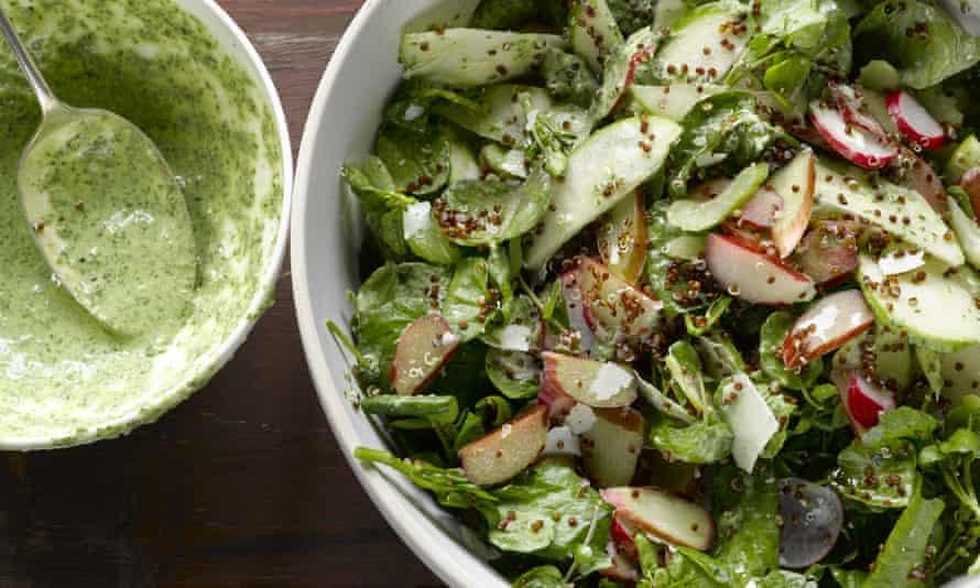 Yotam Ottolenghi recipe - Rhubarb celery and sorrel salad.tif