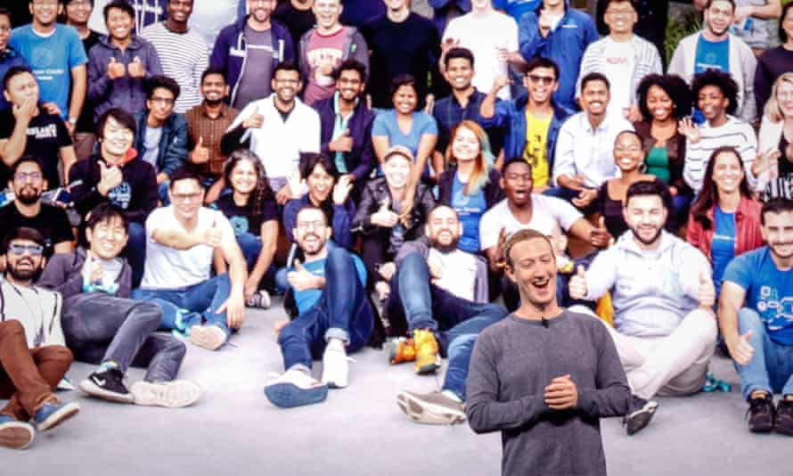 Mark Zuckerberg is applauded as he delivers the keynote address.