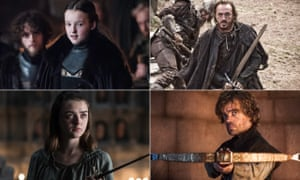 Will it be a noble end? The jury remains out ... Lyanna, Bronn, Tyrion and Arya in Game of Thrones.