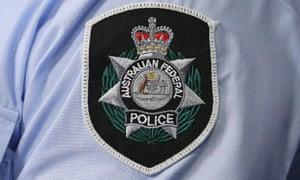 An AFP badge