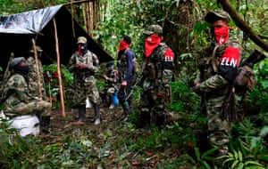An improvised camp in the Chocó jungle, which is in the north-west of Colombia
