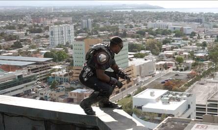 Anthony Mackie as Sam Wilson in Captain America Civil War