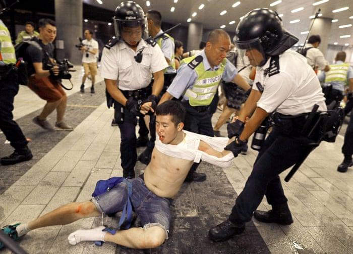 Billedresultat for hong kong protest police brutality
