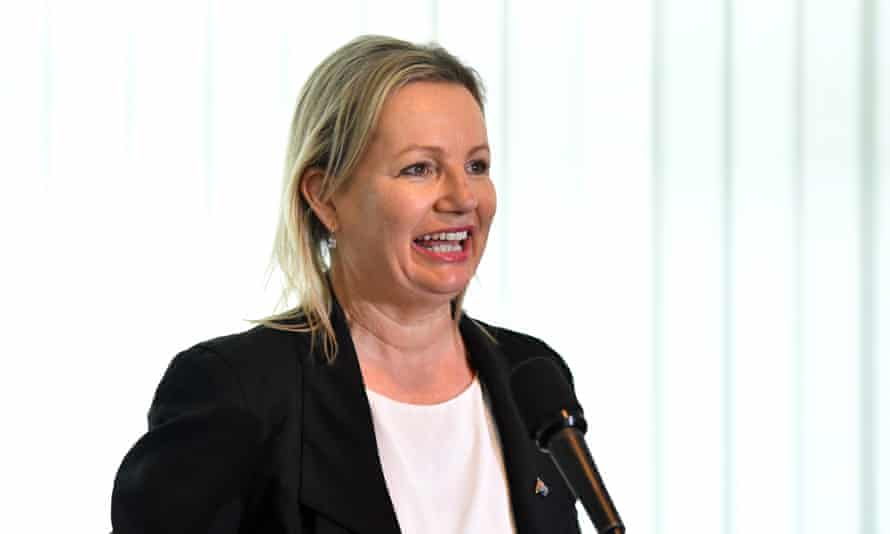Environment minister Sussan Ley speaks at the Farmers for Climate Action launch at Parliament House in Canberra