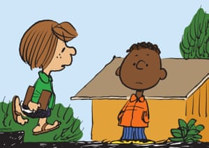 'She's become a lesbian icon' … Peppermint Patty with Franklin, who was added to the strip in a bid to stem race hate.