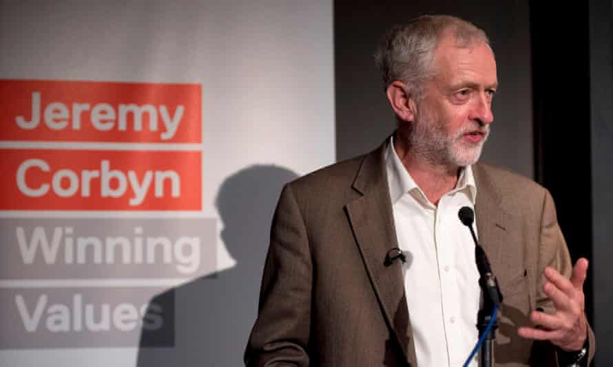 Labour leader Jeremy Corbyn speaks during a press conference at The Royal Society of Arts