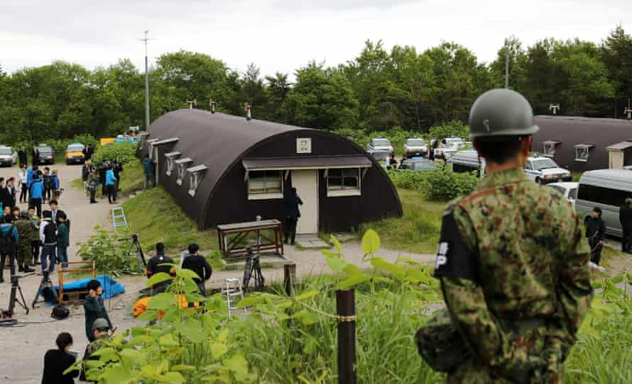 The house in a military exercise area where Yamato was found.