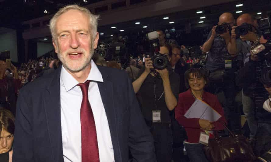 Jeremy Corbyn at the Labour party conference.