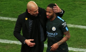 Raheem Sterling says he has profited from working with Pep Guardiola for two seasons at Manchester City.