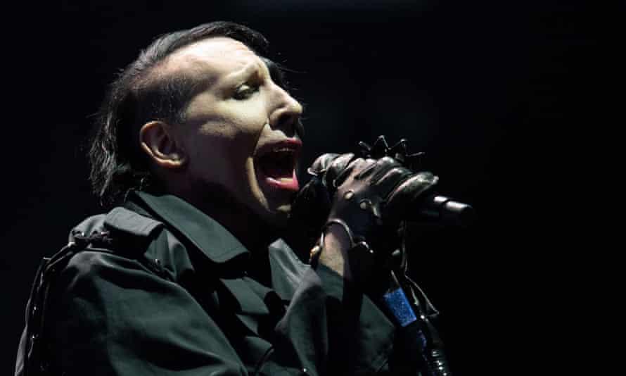 Marilyn Manson performing in 2018.