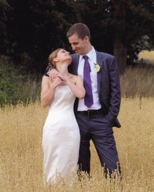 Jo and Brendan Cox celebrate their wedding.