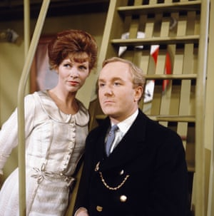 Hardy appears alongside Sarah Lawson in a scene from the television drama series Sunday Playhouse - The Vanishing Trick in 1965