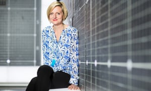 Marianne Elliott on the set of The Curious Incident of the Dog in the Night-Time.