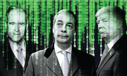 Rogues gallery: Observer New Review feature. Left to right: Robert Mercer, Nigel Farage & Donald Trump