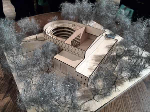 A model for Grange Park Opera's new 'theatre in the woods' at West Horsley in Sussex.