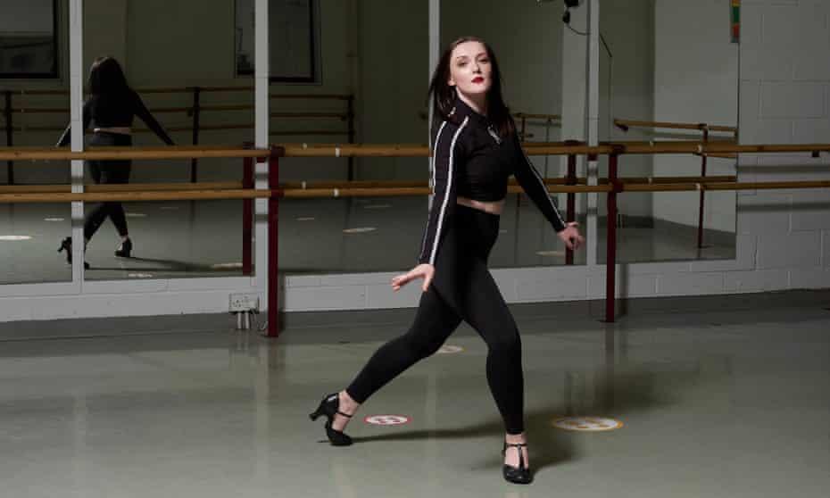 Caitlin Phippen in a dance studio at Laine Theatre Arts college in Surrey.