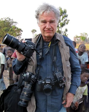 Photographer Jeff Widener on assignment in Angola in 2013.