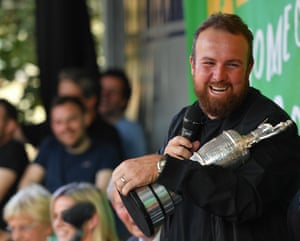 The 2019 Open Champion Shane Lowry with the Claret Jug at his homecoming event in Clara in Offaly.