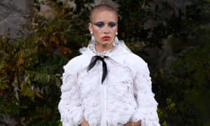 Nominee for model of the year Adwoa Aboah on the catwalk for Chanel in Paris.