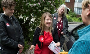 Marie Tidball canvassing with her team, including her mother, in north Oxford