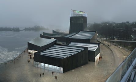 A design for the proposed Guggenheim museum in Helsinki