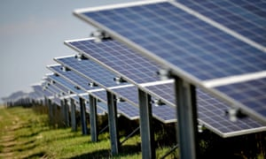 Solar panels in Ireland, one of the nations to move up the EY rankings thanks to a flurry of new renewables programmes helping to drive investment across the continent.