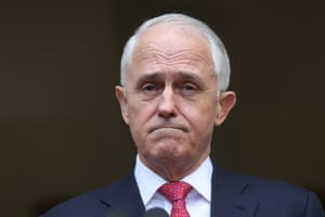 Malcolm Turnbull looking decidedly glum, and with good reason