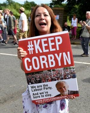 A Jeremy Corbyn supporter