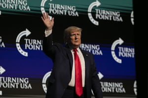 U.S. President Donald Trump at the Turning Point USA Student Action Summit at the Palm Beach County Convention Center in West Palm Beach, Florida on December 21, 2019.
