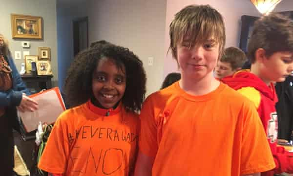 Naomi Wadler, 11, and Carter Anderson, 11.