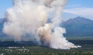 July's wildfire inside Anchorage city limits. Experts predict such fires will happen with greater frequency in future.