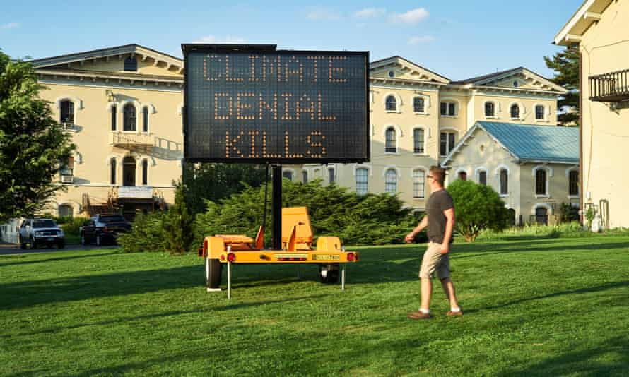 Climate Signals, a public art project by Justin Brice Guariglia, in collaboration with The Climate Museum and the Mayor's Office on Climate Change, debuts across the 5 boroughs of New York City on September 1, 2018.