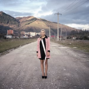 """Adriana A junior prom queen in Petrila, a coal mining town. The name of the town derives from the Latin word """"petrinus"""" (""""pietros"""" in Romanian), meaning """"of stone"""", a reference to the large coal deposits in the area"""