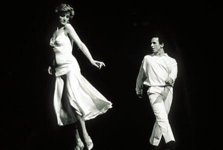 Diana, Princess of Wales dancing with Wayne Sleep