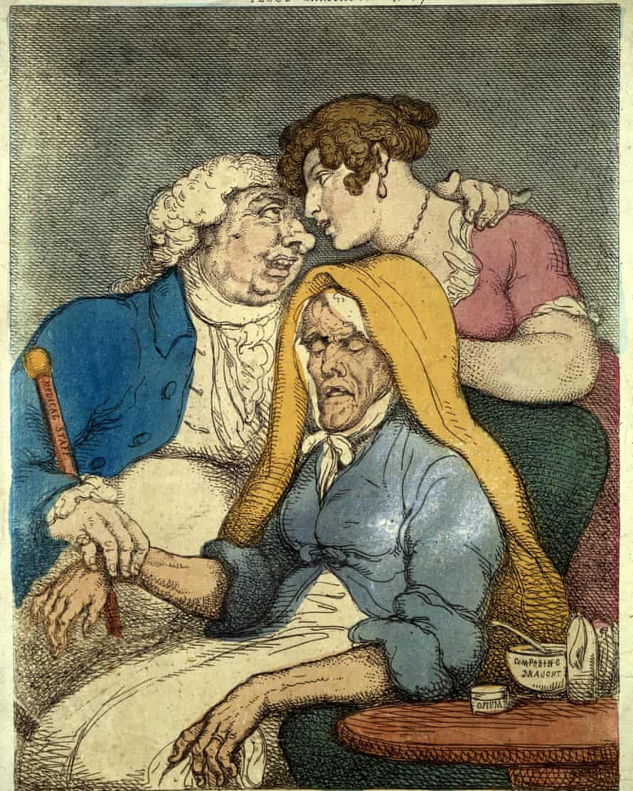 Thomas Rowlandson caricature, Medical Dispatch, 1810