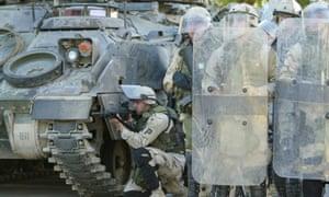 US troops in Baghdad, Iraq.