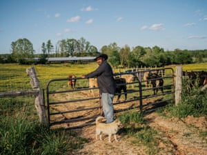 John Boyd Jr., at his 210-acre farm in Baskerville, Va. Boyd is a fourth generation farmer, still fighting for black farmers' rights and equal treatment.