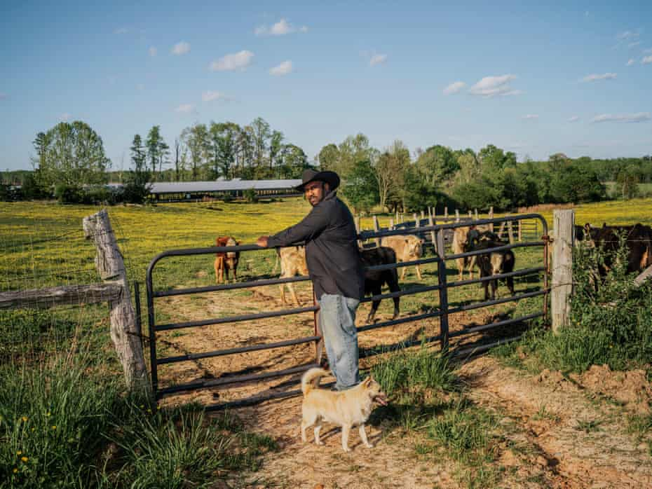John Boyd Jr, at his 210-acre farm in Baskerville, Virginia. Boyd is a fourth-generation farmer, still fighting for black farmers' rights and equal treatment.