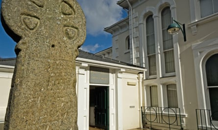 Outside the Penlee Gallery, Penzance