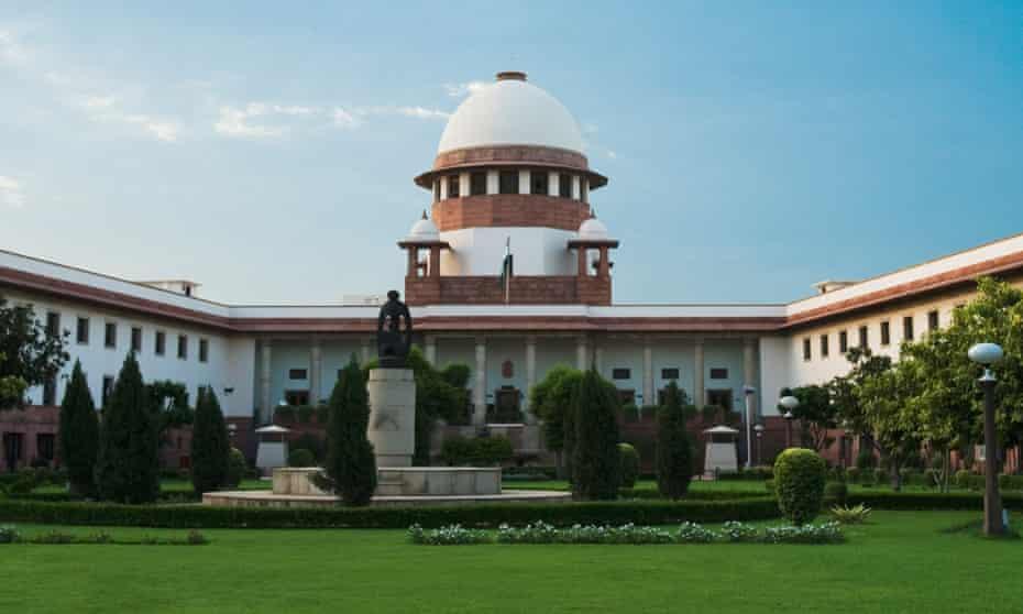 The supreme court building in Delhi.