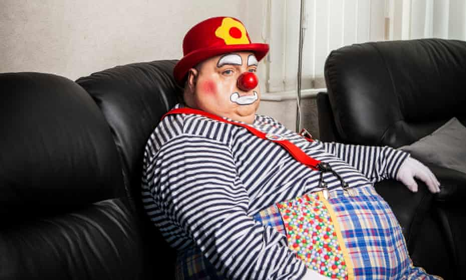 'I think the public are crystal clear that killer clowns and family clowns are two separate things': Rob Bowker aka Bibbledy Bob.