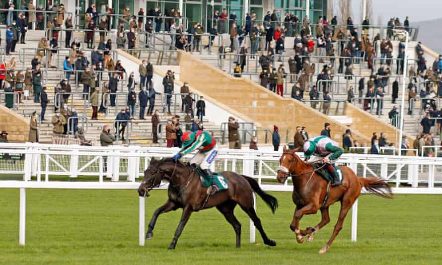 Only a couple of thousand racegoers were allowed in the famous Cheltenham stands on Friday.