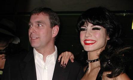 Andrew at Heidi Klum's 'kinky sex' Halloween party.