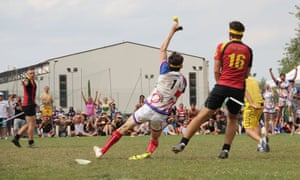 Ollie Craig catches the snitch to send the UK to the 2015 European Quidditch Games.
