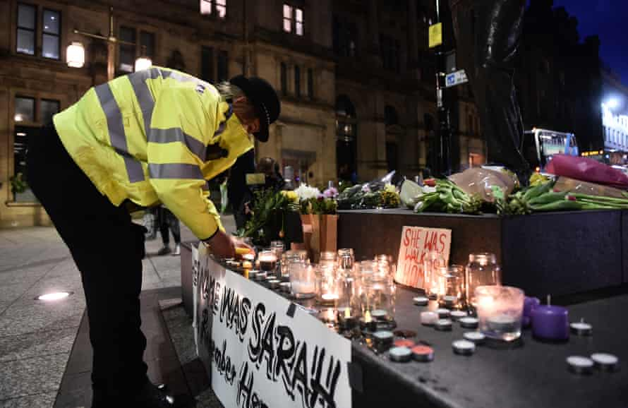 A vigil for Sarah Everard in Nottingham in March 2021
