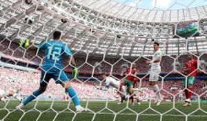Ronaldo heads home the opener.