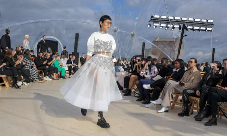 Models stomped the catwalk in chunky-soled boots.