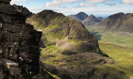Torridon as seen from Liathach ridge in the Scottish Highlands, the setting for Graeme Macrae Burnet's His Bloody Project.